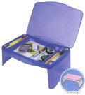 Dial Lap Tray with Storage, 2-1/2 x 17-1/2 x 13 Inches, Assorted Colors