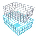 Dial Rectangle Wire Basket, 12-3/4 x 10 x 4-1/2 Inches, Assorted Colors