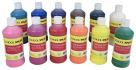 School Smart Tempera Paint Set, Assorted Colors, Pint Set of 12