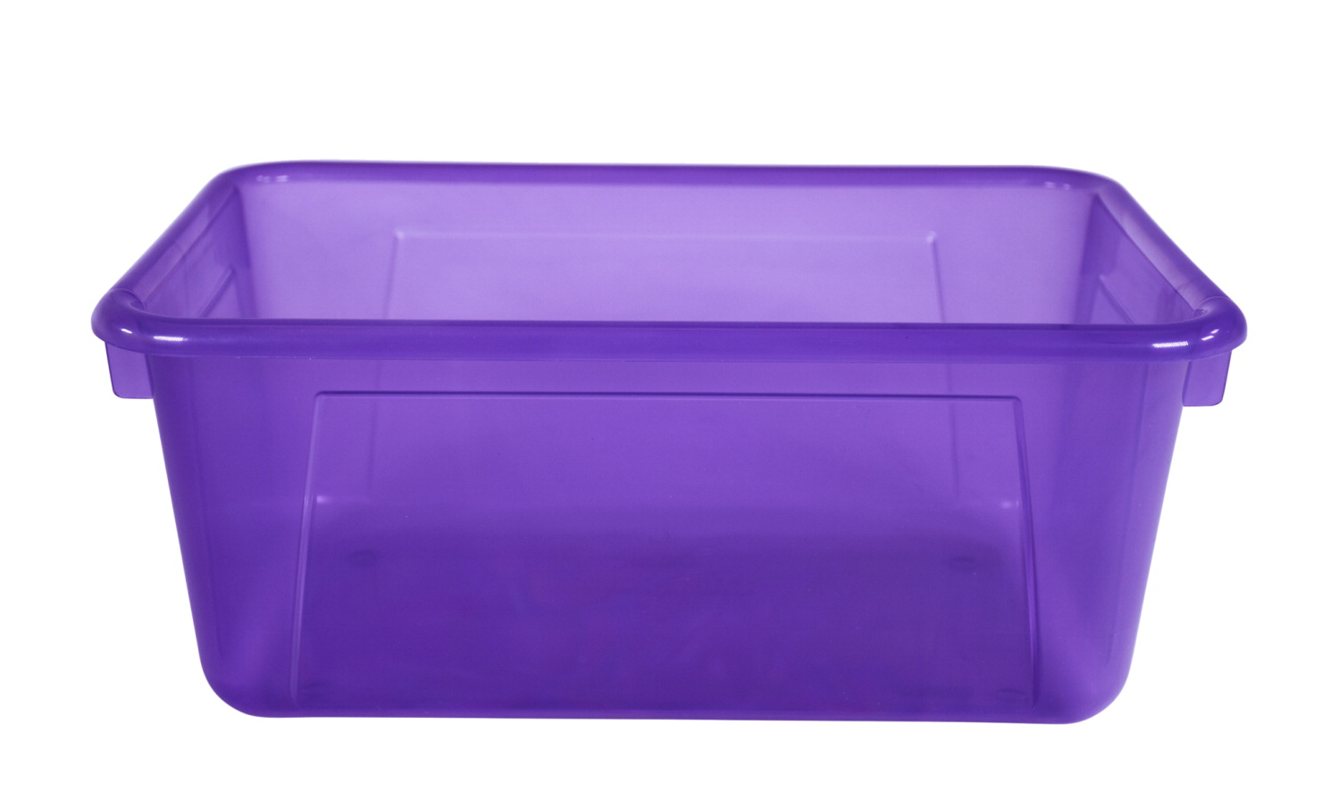 School Smart Translucent Cubby Bin, Small, 12 x 8 x 5 Inches, Candy Violet