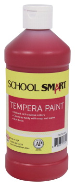 School Smart Tempera Paint Set, Assorted Colors, 4 Gallons