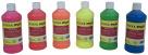 School Smart Washable Finger Paints, Assorted Neon Colors, Pint Set of 7