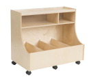 Childcraft Mobile Block Storage Bin, 35-3/4 x 21-1/2 x 31 Inches