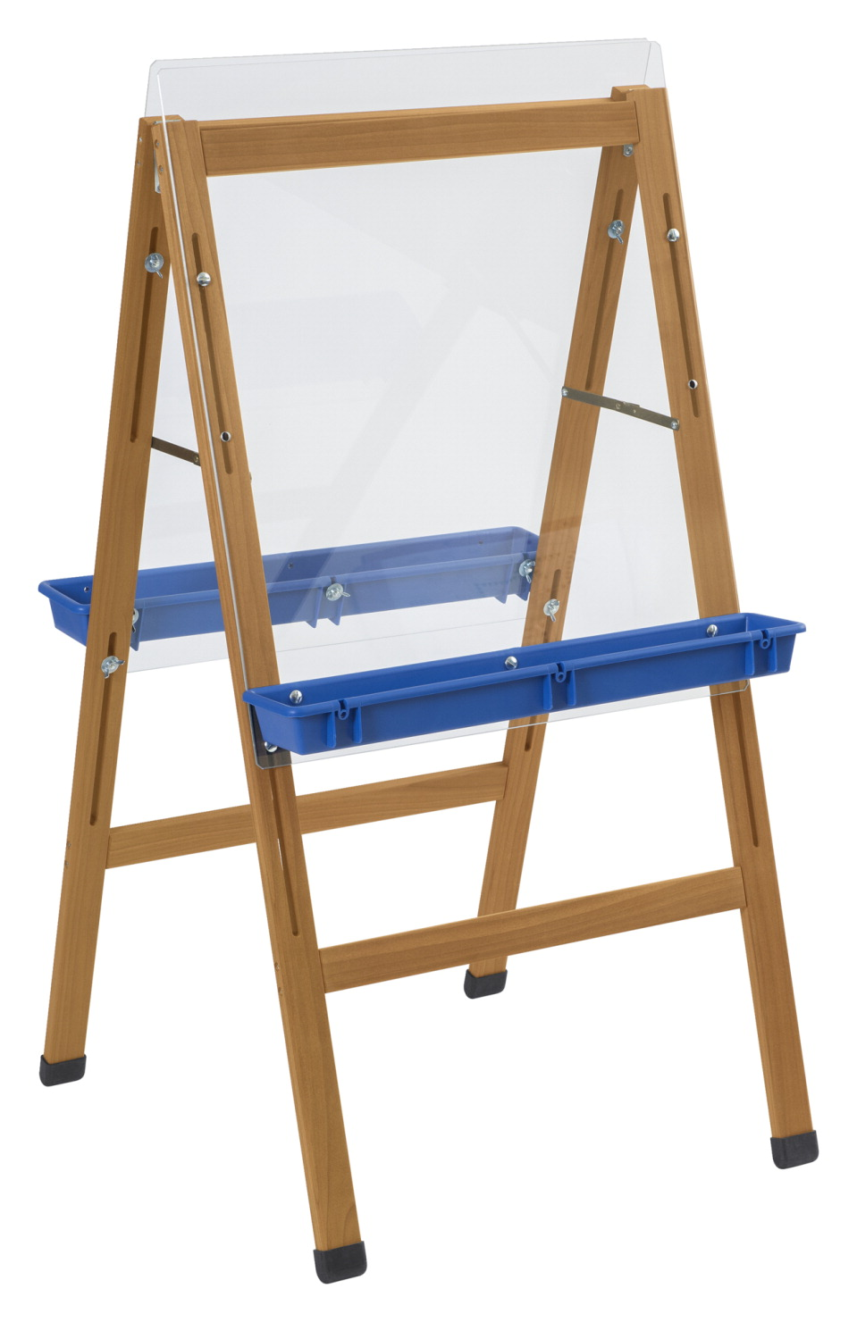 Childcraft Outdoor Easel, 2 Blue Paint Trays, 24 x 26-5/8  x 44-1/2 Inches