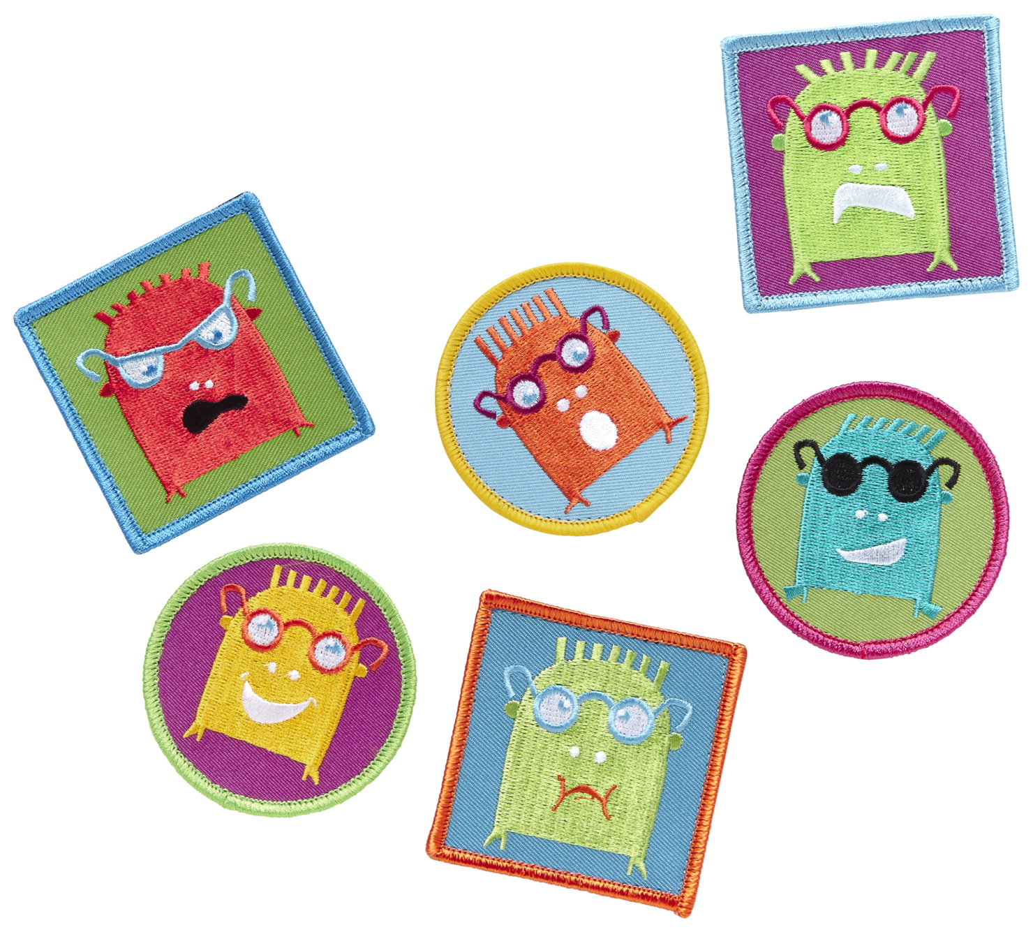 PunkinFutz PunkinPals Emotion Patches Zuggey, Set of 6