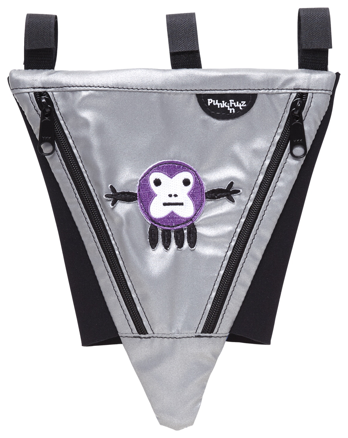 PunkinFutz PunkinPie Accessible Bag, Silver with Monktopus Patch
