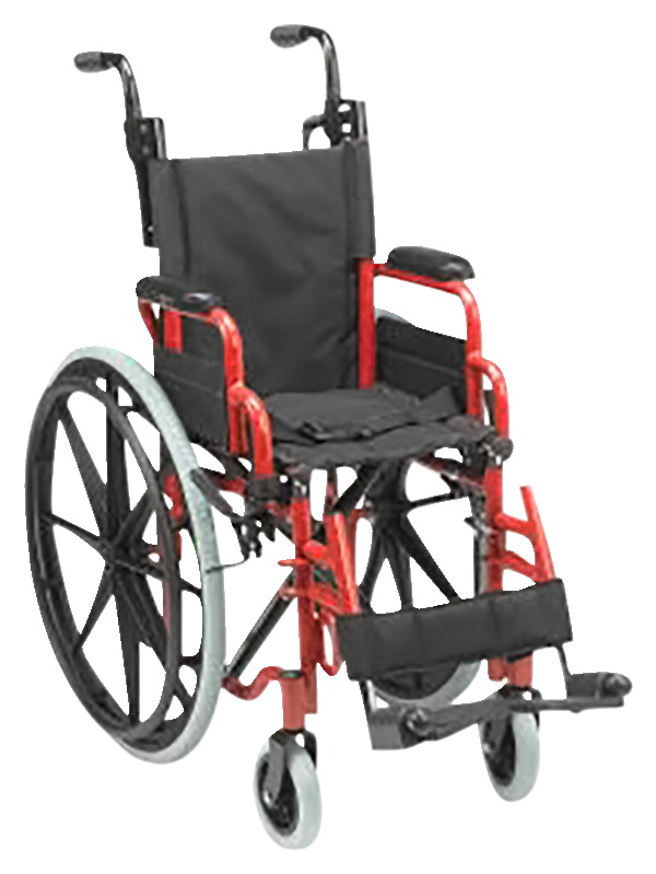 Inspired by Drive Wallaby Pediatric Folding Wheelchair, 12 Inches, Firetruck Red