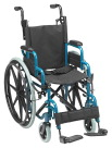 Inspired by Drive Wallaby Pediatric Folding Wheelchair, 14 Inches, Jet Fighter Blue
