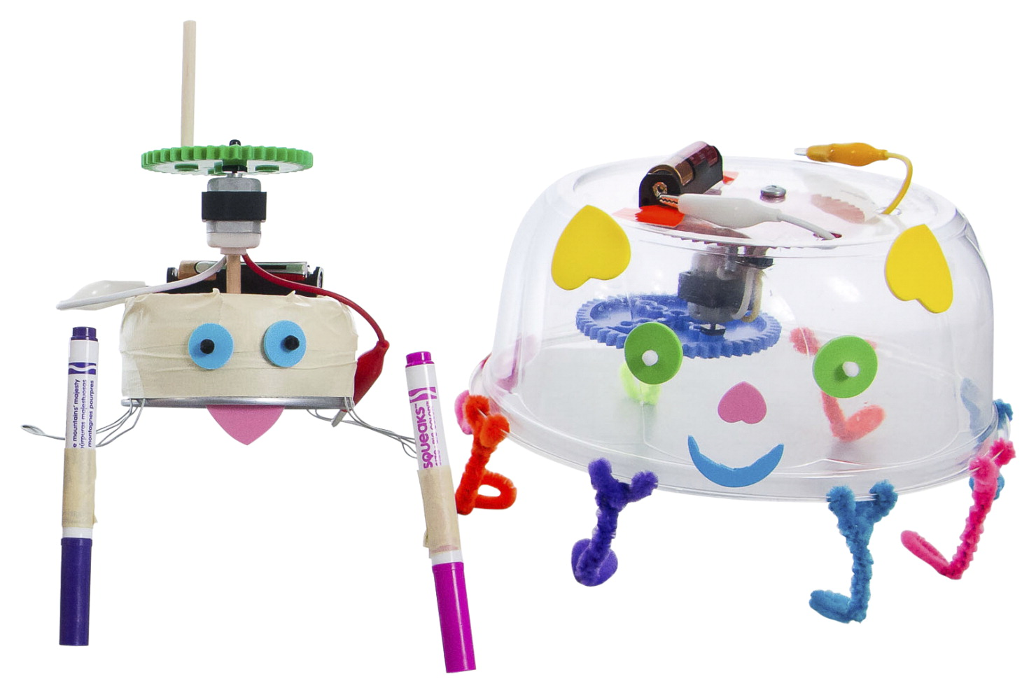 TeacherGeek Wiggle Bots, Pack of 10