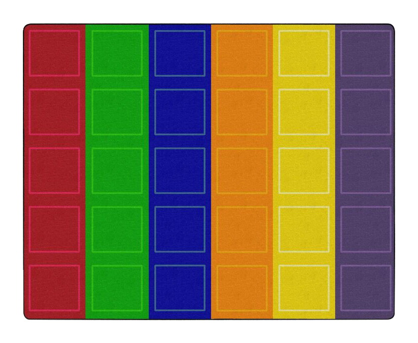 Childcraft Rainbow Squares Carpet, 10 Feet 6 Inches x 13 Feet 2 Inches,  Rectangle
