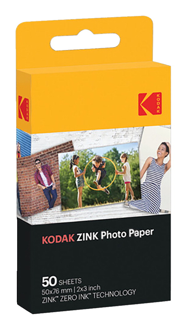Kodak ZINK Photo Paper, 2 x 3 Inches, 50 Sheets