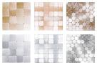 Mosaic Mercantile Metal Mosaic Tiles, 6 x 6 Inch, Set of 6 Sheets