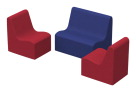 Factory Direct Partners SoftScape Wave Youth Seating, 3 Pack, Various Options
