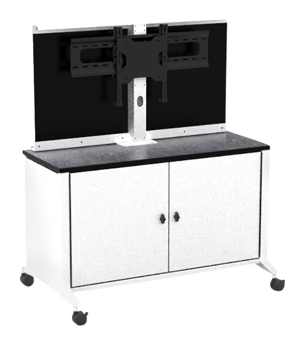 Spectrum Basic Tech Center, Double Unit, Graphite Talc and White