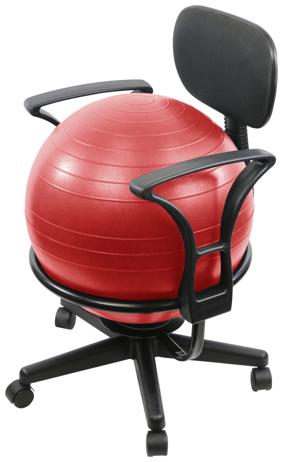 CanDo® Ball Chair Metal with Back and Arms, 22 x 26 x 32 Inches, Various Options