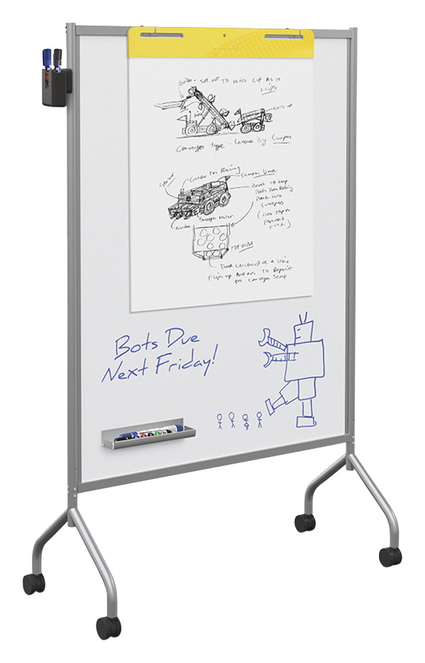 Essentials Mobile Office Dry Erase Magnetic Whiteboard