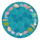 Childcraft Cushy Ocean Wonder Carpet, 6 Feet, Round