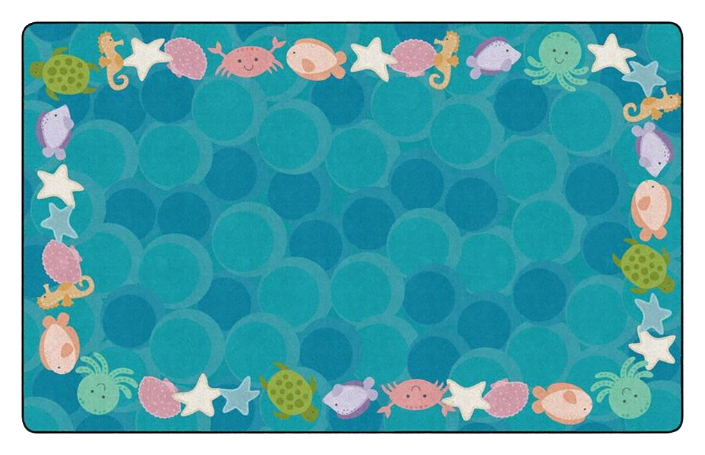 Childcraft Cushy Ocean Wonder Carpet, 6 x 9 Feet, Rectangle