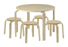 ECR4Kids Bentwood Table and Stools Set - Natural