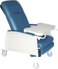 Drive Medical 3-Position Recliner Extra Wide, 47-1/2 x 32 x 41-1/2 Inches, Blue Ridge