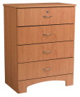 Drive Medical Chest, 4 Drawers, 21 x 18 x 29-1/2 Inches, Cherry
