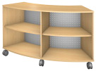 Fleetwood Designer Low Arc Storage, 60 x 20 x 36 Inches, Fusion Maple