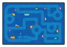 Childcraft ABC Furnishings City Streets Carpet, 4 x 6 Feet, Rectangle, Various Options