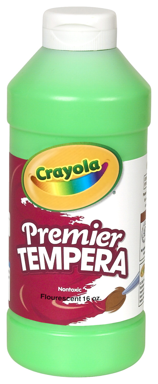 Crayola Premier Tempera Paint, Pint, Fluorescent Green