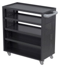 Classroom Select Makerspace Tool Storage Cart, 39-1/2 x 19 x 40 Inches, Black