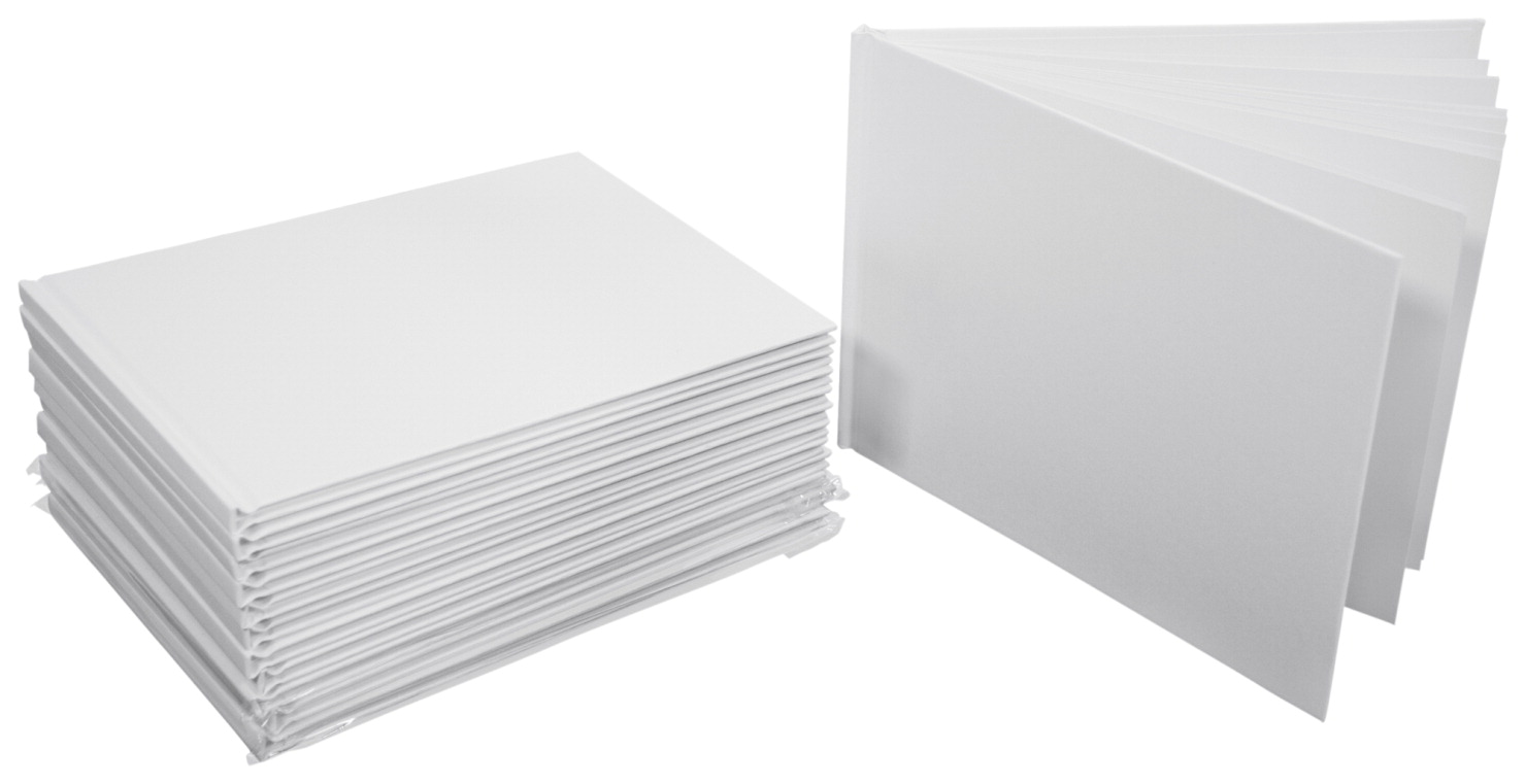 blank hardcover books landscape pages pack inches sax inch larger 8x6