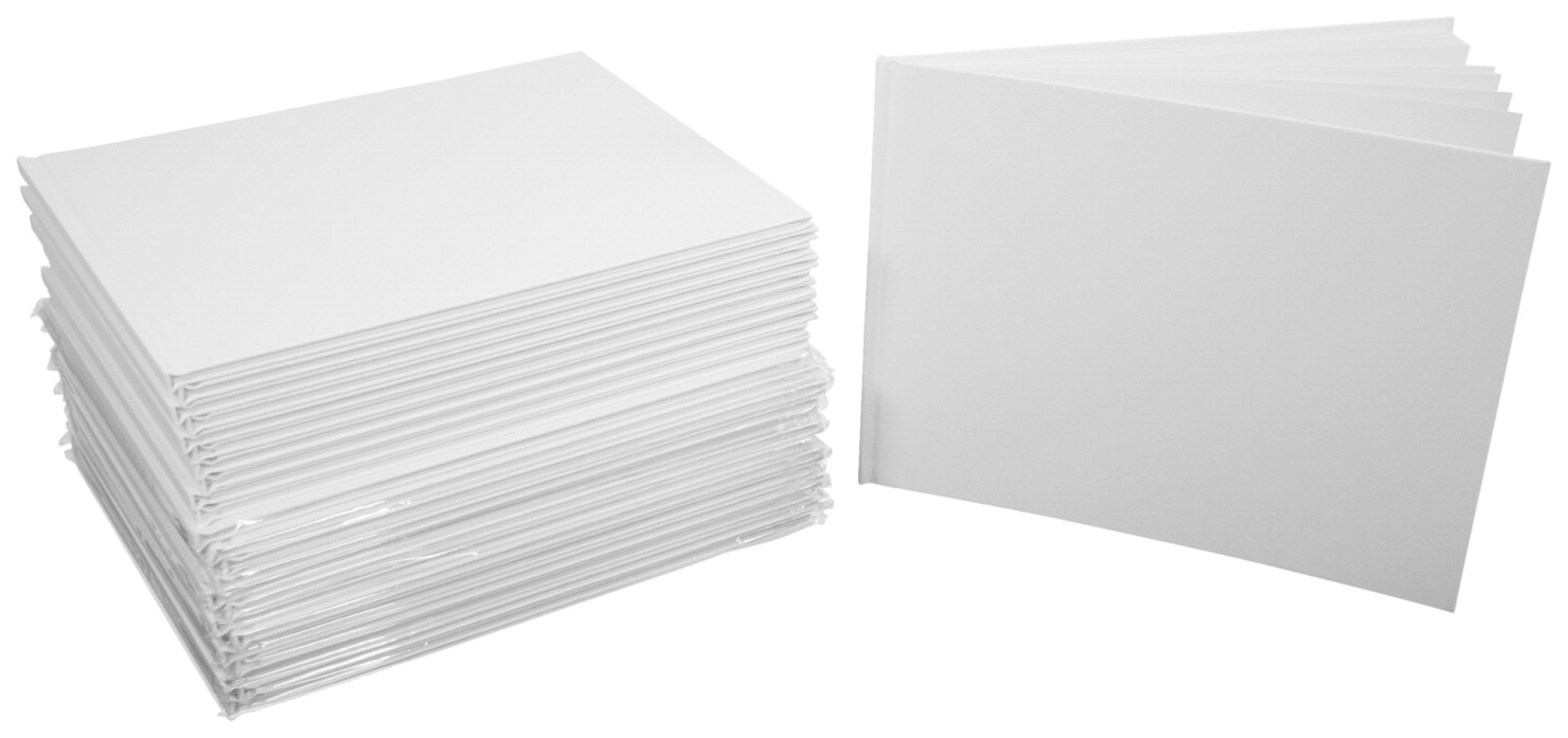 blank hardcover books landscape pack sax inches letter larger