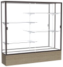 Waddell Reliant Series Lighted Display Case, 72 x 16 x 80 Inches, Various Options