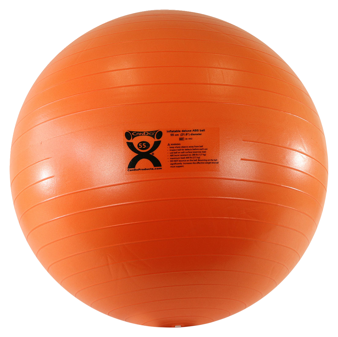 Cando Inflatable Exercise Ball Extra Thick Abs 22 Inches Orange