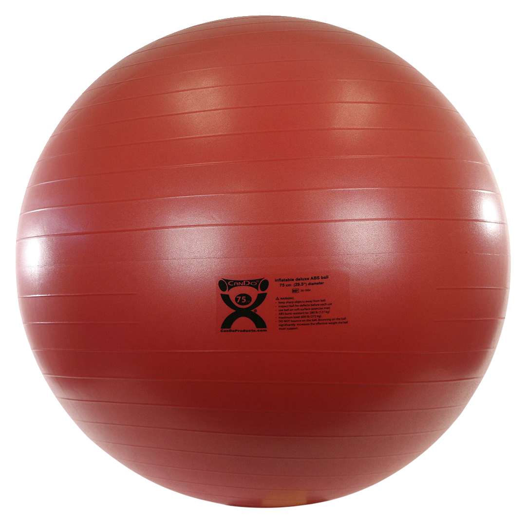 Cando Inflatable Exercise Ball Abs Extra Thick 29 Inches Red Soar Life Products