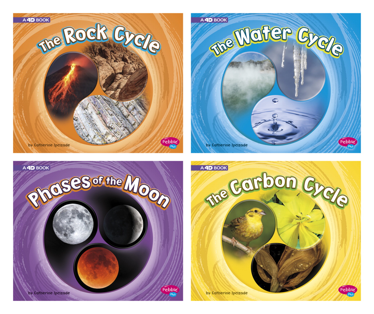 Pebble Plus Cycles of Nature Book Series, 460 to 550 Lexile Reading Level, Set of 4