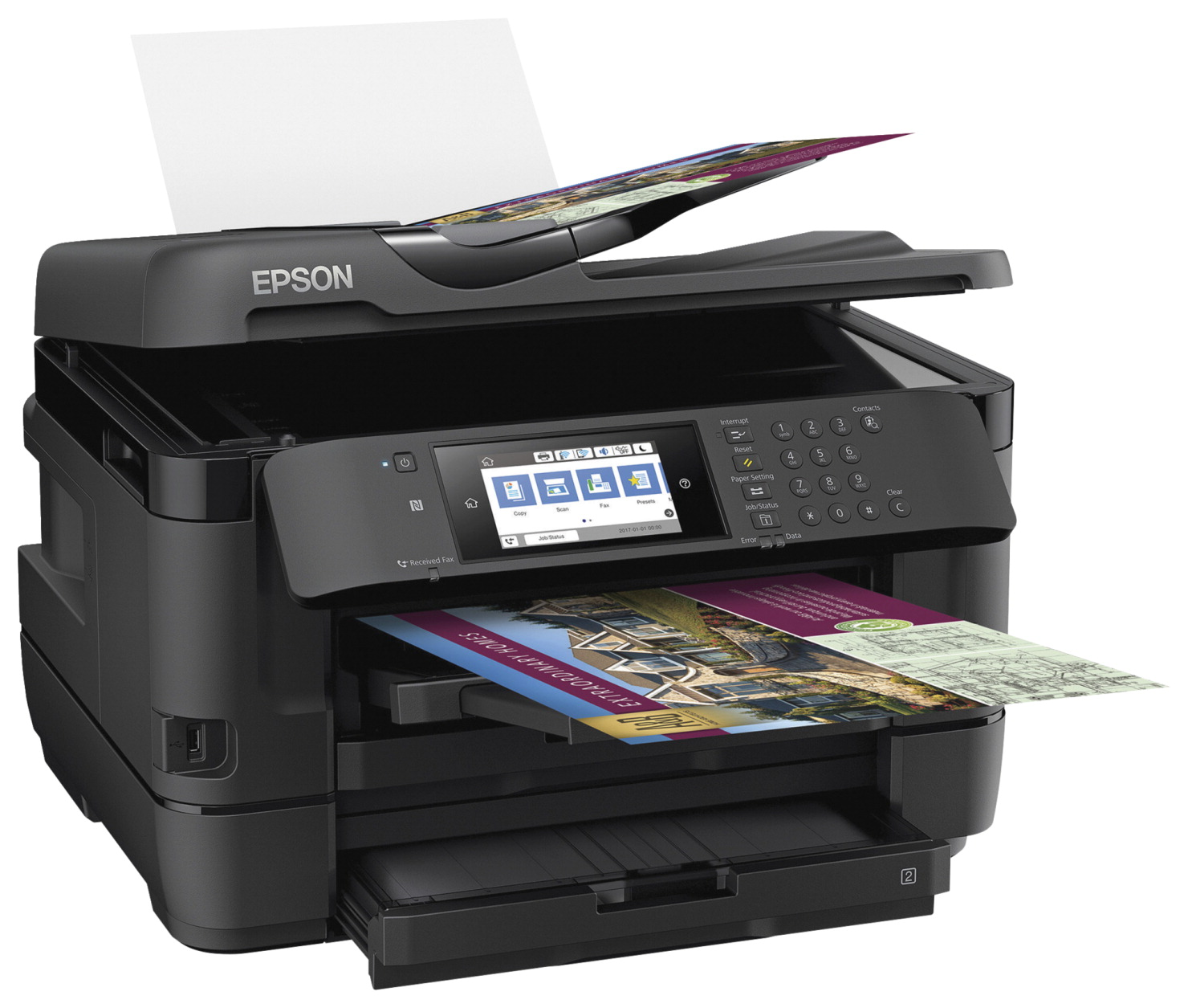 Epson WorkForce WF-7720 All-in-One Printer -- Printer, Wide-Format,  Inkjet,35-Page ADF,4 3