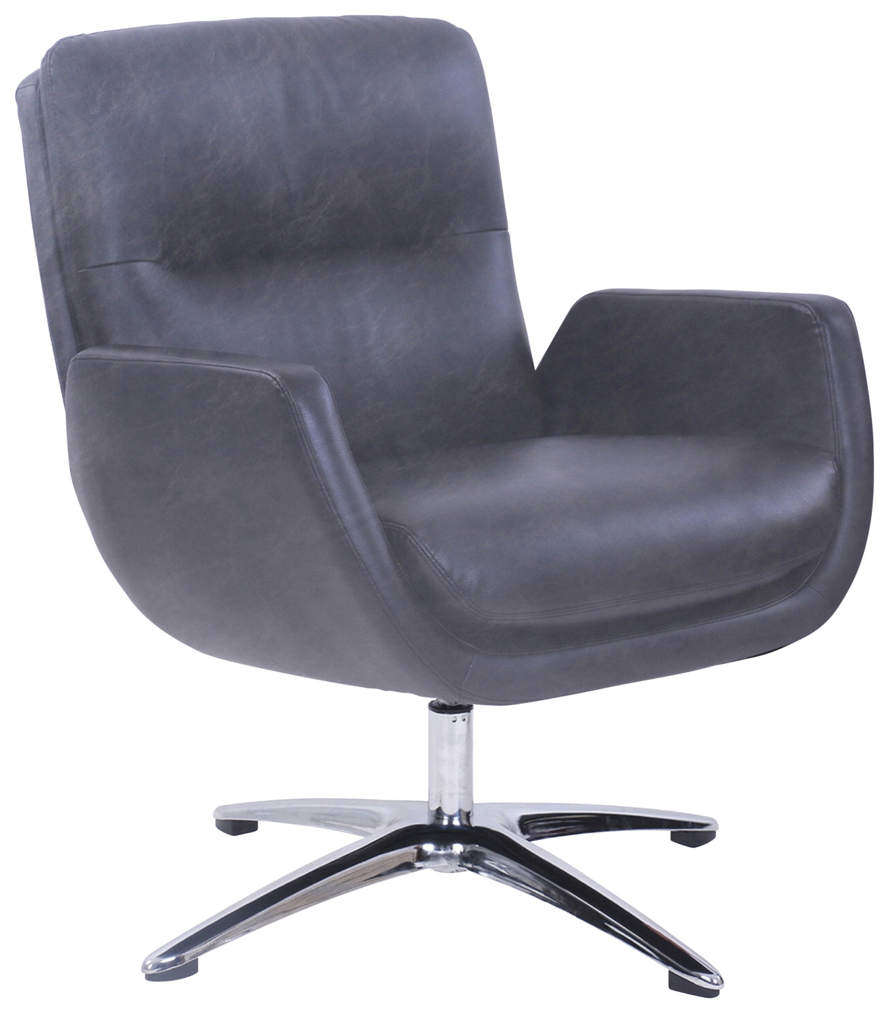 Lorell Distressed Soft Touch Lounge Chair -- Chair, Lounge, 30-1/2