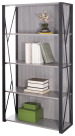 Safco Mood Contemporary Style Bookcase, 31-3/4 x 12 x 59 Inches, Gray