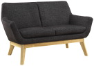 Lorell Quintessence Coll. Upholstered Loveseat -- Loveseat, Lumbar Support, 19-3/4 Wx53-1/10 Lx32-3/4 H, BK/NL