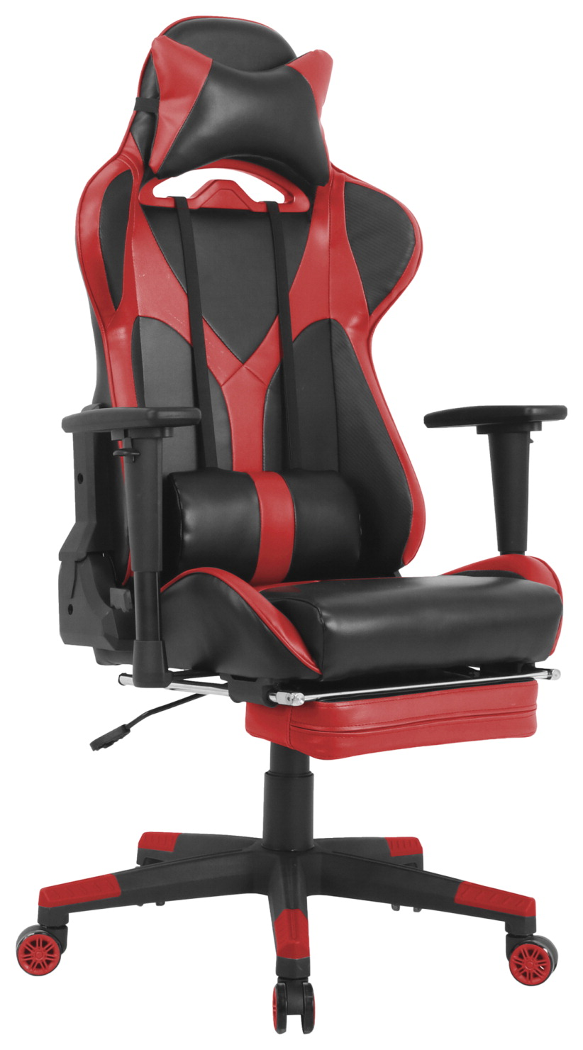 Superb Classroom Select Foldable Footrest High Back Gaming Chair Chair Gaming High Back 20 9 10Wx44 3 5Lx52H Red Black Bralicious Painted Fabric Chair Ideas Braliciousco