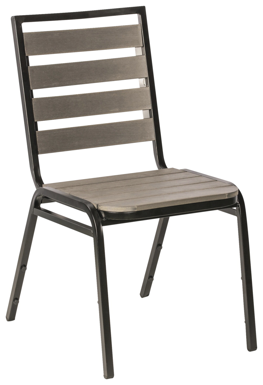 Lorell Charcoal Outdoor Chair -- Chair, Outdoor, 18-1/2