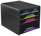 CEP Gloss Desktop Drawer Storage Unit -- Desktop Drawer, 5 Drawer, 11-3/10 Wx14-1/5 Lx10-3/5 H, MI