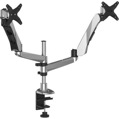 3M Easy-Adjust Dual Monitor Arm -- Monitor Arm, Dual, Adjust,10.6 H range, 20 lb Cap, BK/SR