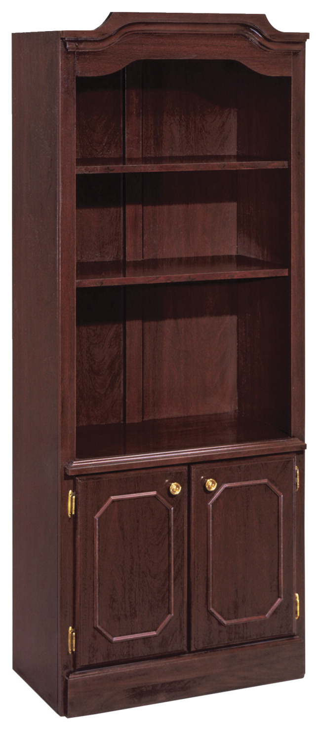 DMI Office Furn. Governor's Mahogany Desking -- Bookcase, w/ Doors, 30