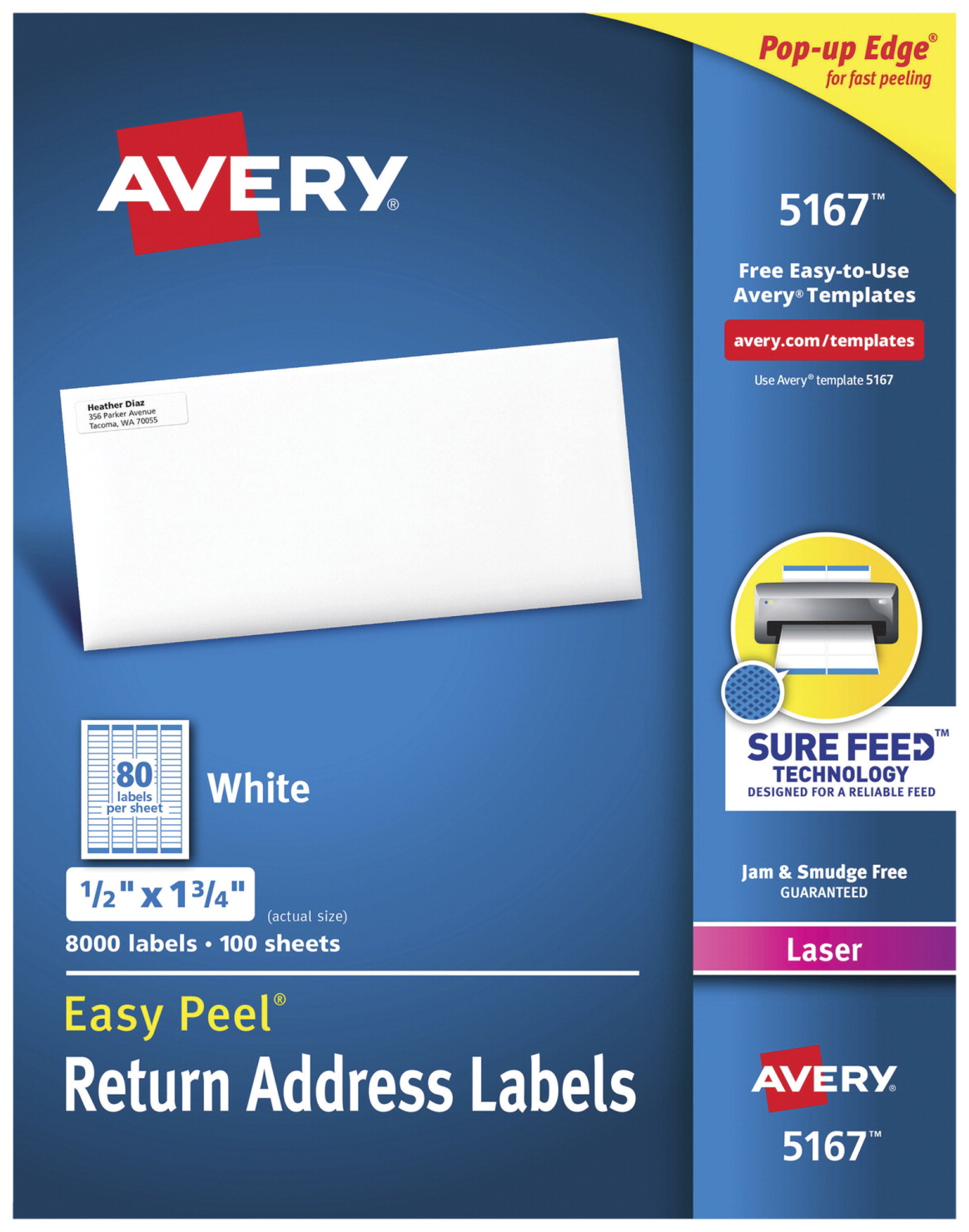 avery easy peel return address labels white soar life products