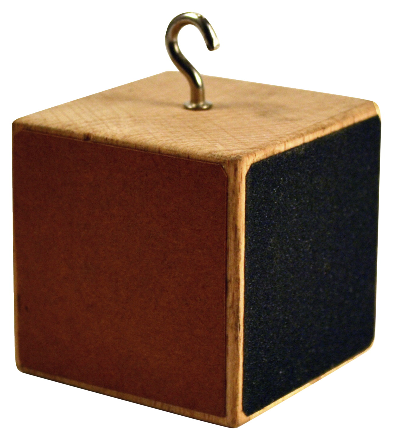 EISCO Friction Cube with 4 Unique Surfaces and a Hook