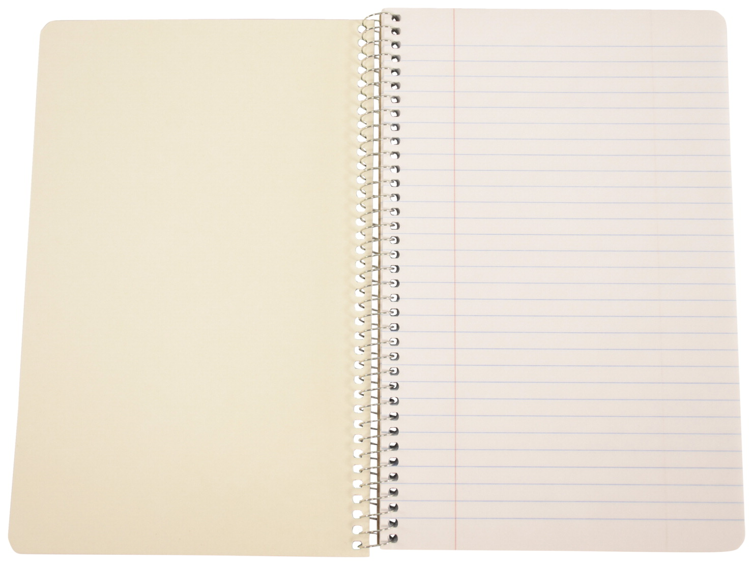 School Smart Spiral Non-Perforated 1 Subject College Ruled Notebook, 9-1/2  x 6 Inches
