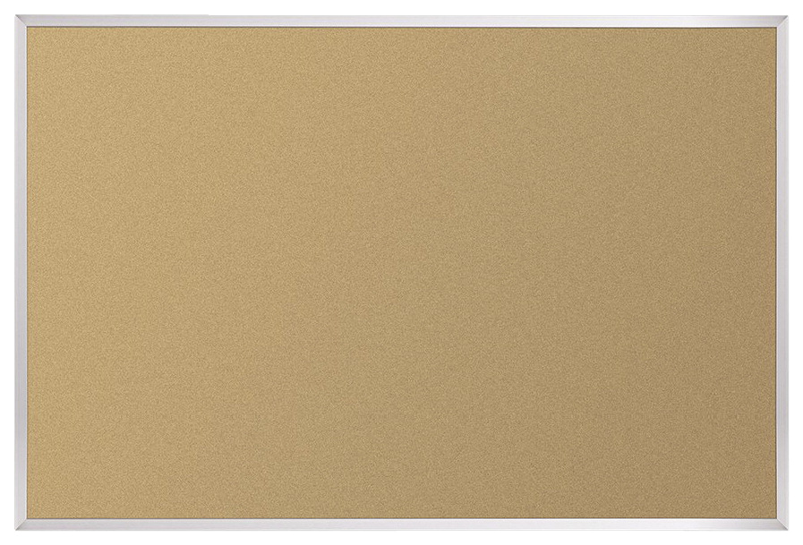 Best-Rite Valu-Tak Natural Cork Bulletin Board, Aluminum Frame, 4 x 8 Feet