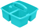 Storex Small Caddy, 9-1/4 x 9-1/4 x 5-1/4 Inches, Teal, Pack of 6
