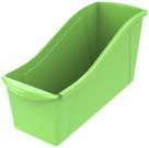 Storex Interlocking Book Bin, Large, 14-1/4 x 5-1/4 x 7 Inches, Green